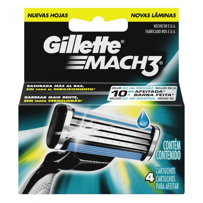 GILLETTE MACH 3 CARTUCHO C 4
