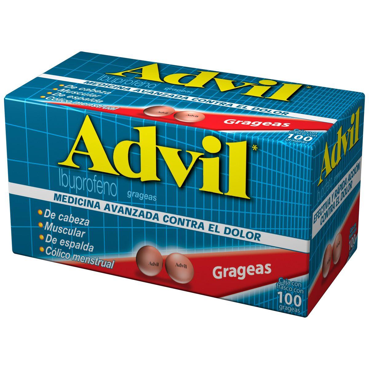 Advil Grag 100 200mg Emerita Farmacias